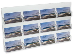 WH12xBC Clear Acrylic Wallmount 12 Space Gift Card or Business Card Holders