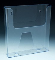 Clear Styrene Molded Wallmount Literature and Brochure Holders