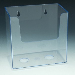 Wallmount Acrylic and Plastic Brochure and Literature Holders, plexi, plexiglass, plexiglas, lucite