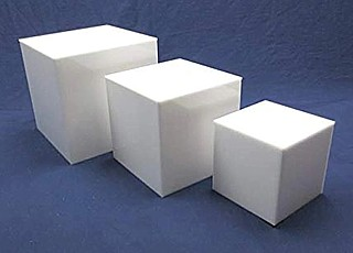 White Acrylic 5-Sided Cubes