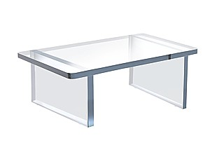 Clear Acrylic THICK Wide Bench Risers
