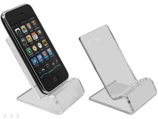Acrylic Cellphone Easels and Easel displays, J-stands, Plexiglas, Plexiglass, plexi, Lucite and Plastic