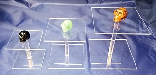 Clear Acrylic Barbell Dumbell Pedetsal Risers