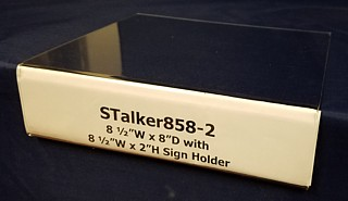 Clear Acrylic Shelf Talker with Sign Holder Front