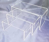 Clear Acrylic Wide Rectangular Risers